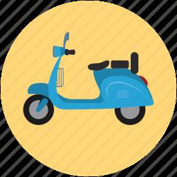 motorscooter, scooter, travel, vespa icon