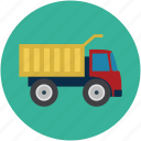 dump, garbage, garbage dump, lifter, truck icon