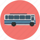auto bus, bus, coach, motor bus, passenger bus, tour bus, transport icon