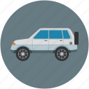 automobile, jeep, transport, travel, vehicle icon