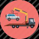 truck, tow truck, wrecker, transport, vehicle