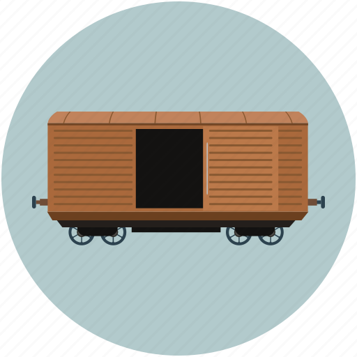 boxcar, cargo, delivery, railcar, railway boxcar, transport icon