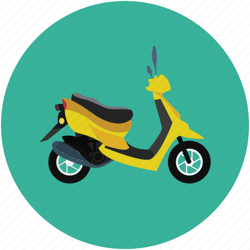 bike, motor scooter, scooter, transport, vespa icon