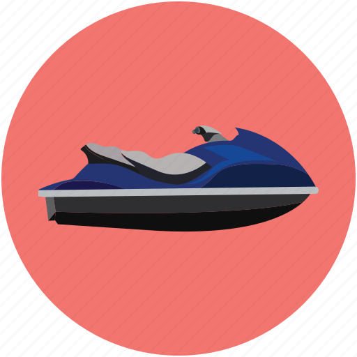 jet boating, jet ski, water scooter, water sports icon