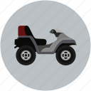 bike, camo, quad, transport, vehicle icon