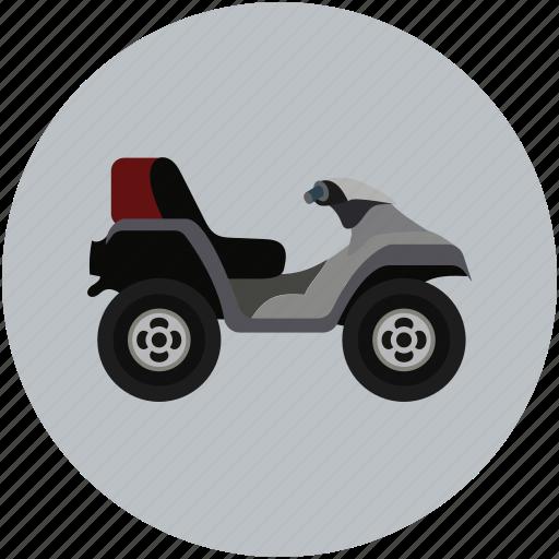 bike, camo, quad, transport, vehicle icon