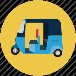 auto, rickshaw, transport, travel icon