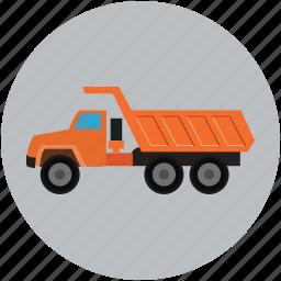 garbage, garbage dump, lifter, truck, ump icon