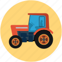 tractor, transport, vehicle, work
