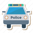 auto, car, police, transport, transportation, travel, vehicle icon