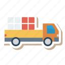 auto, delivery, trailer, transport, transportation, travel, vehicle icon