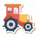 auto, farming, tractor, transport, transportation, travel, vehicle icon