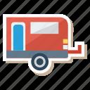 auto, house, picnic, transport, transportation, travel, vehicle icon