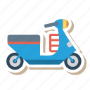 auto, scooter, transport, transportation, travel, vehicle, vespa icon