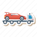 auto, car, trailer, transport, transportation, travel, vehicle icon