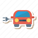 auto, car, charging, energy, transport, travel, vehicle icon