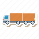auto, double, heavy, trailer, transport, travel, vehicle icon