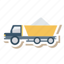 auto, contruction, loader, trailer, transport, travel, vehicle icon