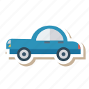 auto, card, long, old, transport, travel, vehicle icon