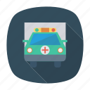 ambulance, auto, medical, transport, transportation, travel, vehicle icon