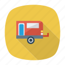 auto, house, picnic, transport, transportation, travel, vehicle icon