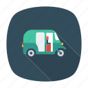 auto, rickshaw, transport, transportation, travel, vehicle icon