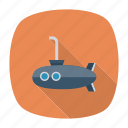 auto, submarine, transport, transportation, travel, underwater, vehicle icon