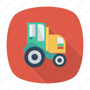 auto, rural, tractor, transport, transportation, travel, vehicle icon