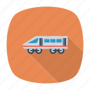 aero, bullet, train, transport, transportation, vehicle, winged icon