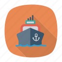 cargo, passenger, ship, transport, transportation, travel, vehicle icon