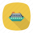 auto, boat, passenger, ship, transport, travel, vehicle icon