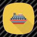 auto, cargo, passenger, ship, transport, travel, vehicle icon