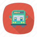 bus, dawoo, passenger, school, transport, travel, vehicle icon