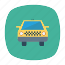 auto, cab, taxi, transport, travel, vehicle, yellow icon
