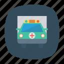 ambulance, auto, medical, transport, transportation, travel, vehicle icon