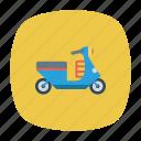 auto, scooter, transport, transportation, travel, vehicle, vespa icon