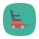 auto, chair, transport, transportation, travel, vehicle, wheel icon