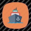 cargo, passenger, ship, transport, transportation, travel, vehicle icon