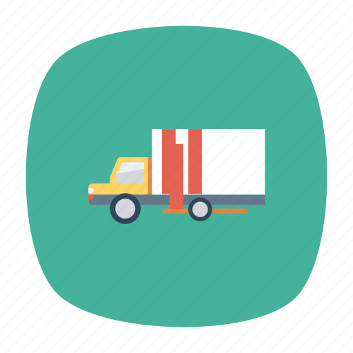 auto, container, trailer, transport, travel, truck, vehicle icon