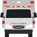 health, flat, transport, ambulance, car, front, transportation