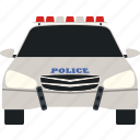 car, cop, flat, police, siren, transport, transportation icon