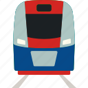 flat, railroad, railway, speed, train, transport, transportation icon