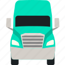 delivery, flat, lorry, semi, trailer, transportation, truck