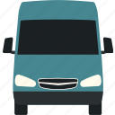 car, delivery, flat, transportation, truck, van, vehicle icon