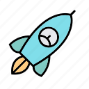launch, missile, power, rocket, spaceship, startup icon