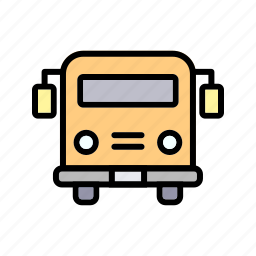 bus, education, school bus, vehicle icon