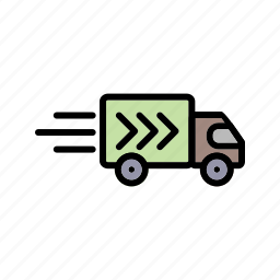 delivery truck, truck, van icon