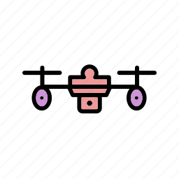 camera, device, drone, drone robot icon