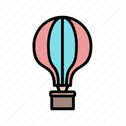 air balloon, balloon, fly icon