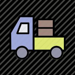carrier, truck, van icon